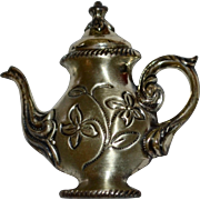 Beau Sterling Silver Fancy Teapot Brooch/Pin