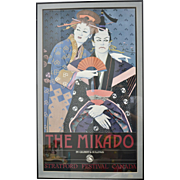 THE MIKADO Original Art Poster by Gilbert & Sullivan in Black Frame