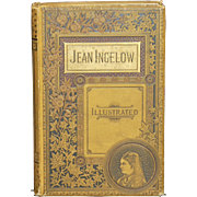 Copyright 1867 Jean Ingelow Ilustrated Gold Linen Hardcover Poetry Book