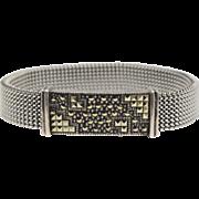 Signed Judith Jack Sterling & Marcasite Slide Stretch Bracelet