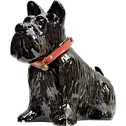 Large Black Scottish Terrier 'Scottie Dog' Ceramic Planter or Decoration