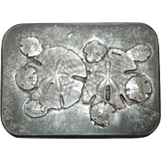Signed Metzke Pewter Sand Dollar Hinged Trinket Box