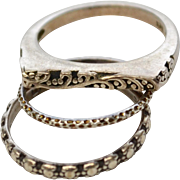 Set of 3 Sterling Silver Stackable Rings