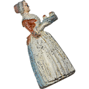 Baker's Chocolate Girl Painted Metal Advertising Pencil Sharpener