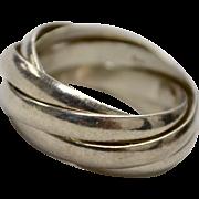 Sterling Silver 5 Band Interlocking Eternity Ring