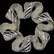 Sarah Coventry Silvertone Wavy Ribbon Broch/Pin
