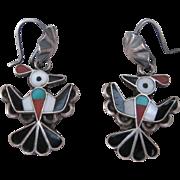 Vintage Zuni Thunderbird Earrings  FREE SHIPPING!