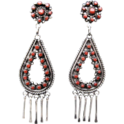 Vintage Zuni Coral Earrings FREE SHIPPING!