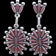Zuni Coral Earrings  Free Shipping!