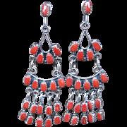 Zuni Coral Earrings-Free Shipping!