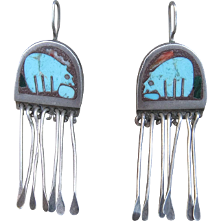 Sterling and Turquoise Earrings-FREE SHIPPING!