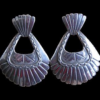 Navajo Door Knocker Earrings-Free Shipping!
