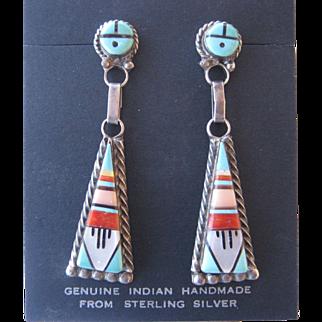 Vintage Zuni Earrings-FREE SHIPPING!