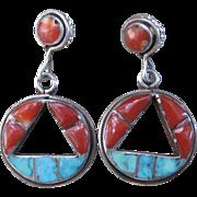 Zuni Earrings-1960's Vintage