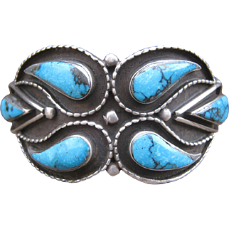 Zuni Cuff-Vintage with Great Stones!