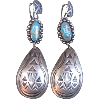 """Navajo """"Spoon"""" Earrings"""