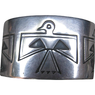 Sterling Silver Thunderbird Cuff