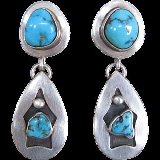 Navajo Earrings-Vintage and Great Stones!