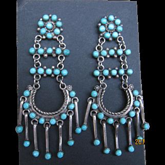 Vintage Zuni Earrings-1970's