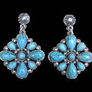 Navajo Earrings-Artist D. Delgarito