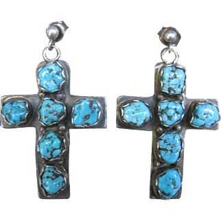 Native American Turquoise Crosses