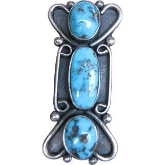 Navajo Bisbee Turquoise Ring