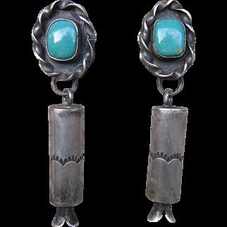 """Navajo """"Barrel"""" Earrings"""
