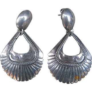 Navajo Door Knocker Earrings