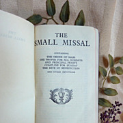The Small Missal Catholic Prayer Book - Red Tag Sale Item