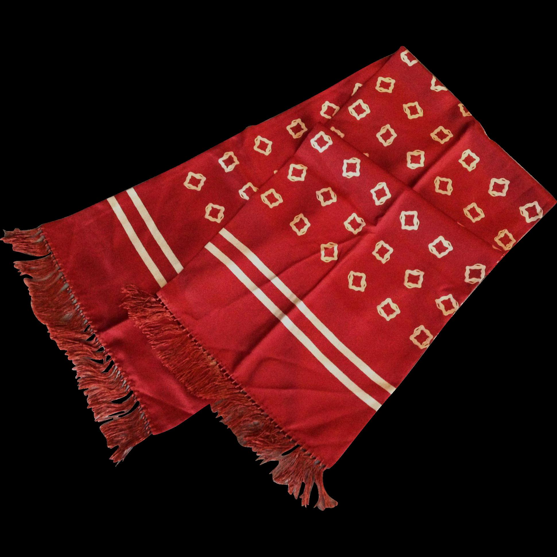 Gentleman's Silk Scarf From Manderlyestates On Ruby Lane