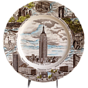 New York's Empire State Building Souvenir Plate by Johnson Brothers