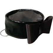 Patent Leather 1950's Pillbox Hat