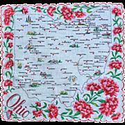 Ohio Souvenir Hankie