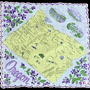 Oregon Souvenir Hankie