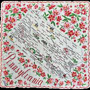 Pennsylvania Souvenir Hankie