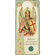 Archangel Michael Holy Card