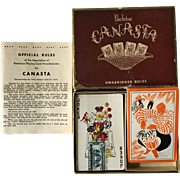 Mid-Century Blackstone Canasta Playing Cards