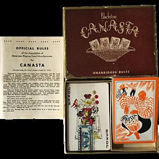 Mid-Century Blackstone Canasta Playing Cards