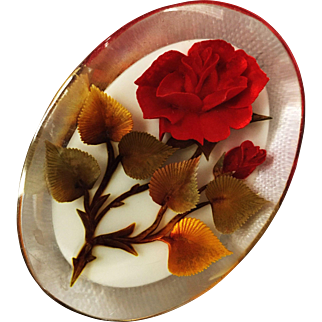 Reverse Carved Acrylic Pin/Brooch