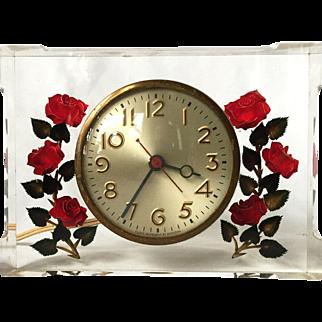 Reverse Carved Acrylic Clock