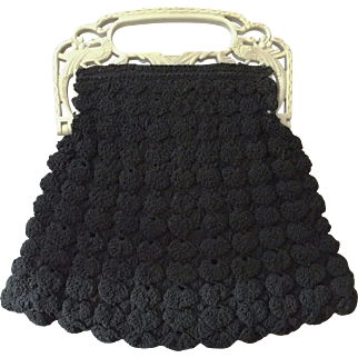 Decorative Handle Evening Bag