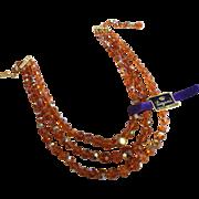 Laguna 3 Strand Aurora Borealis Crystal Bead Necklace`