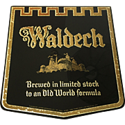Waldech Beer Glass Sign 1950