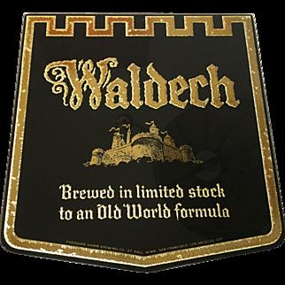 Waldech Beer Glass Sign 1950