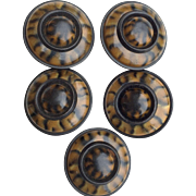 Large Faux Tortoise Shell Coat Buttons