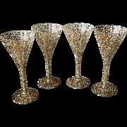 Mid-Century Spatterware Stemware