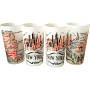 Mid Century New York Drinking Glasses