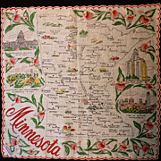 Minnesota State Hankie Souvenir
