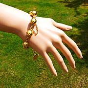 A hidden Gem with this 18k very Heavy, Antique Bracelet….! ! !