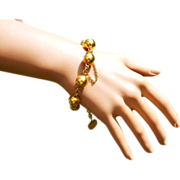 A hidden Gem with this 18k very Heavy, Antique Bracelet….! ! !